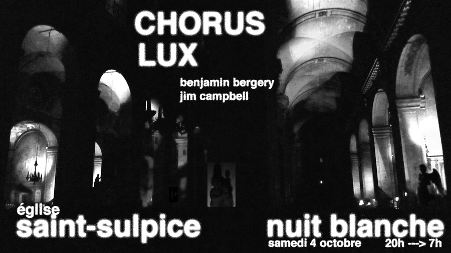 Chorus Lux by Benjamin Bergery and Jim Campbell
